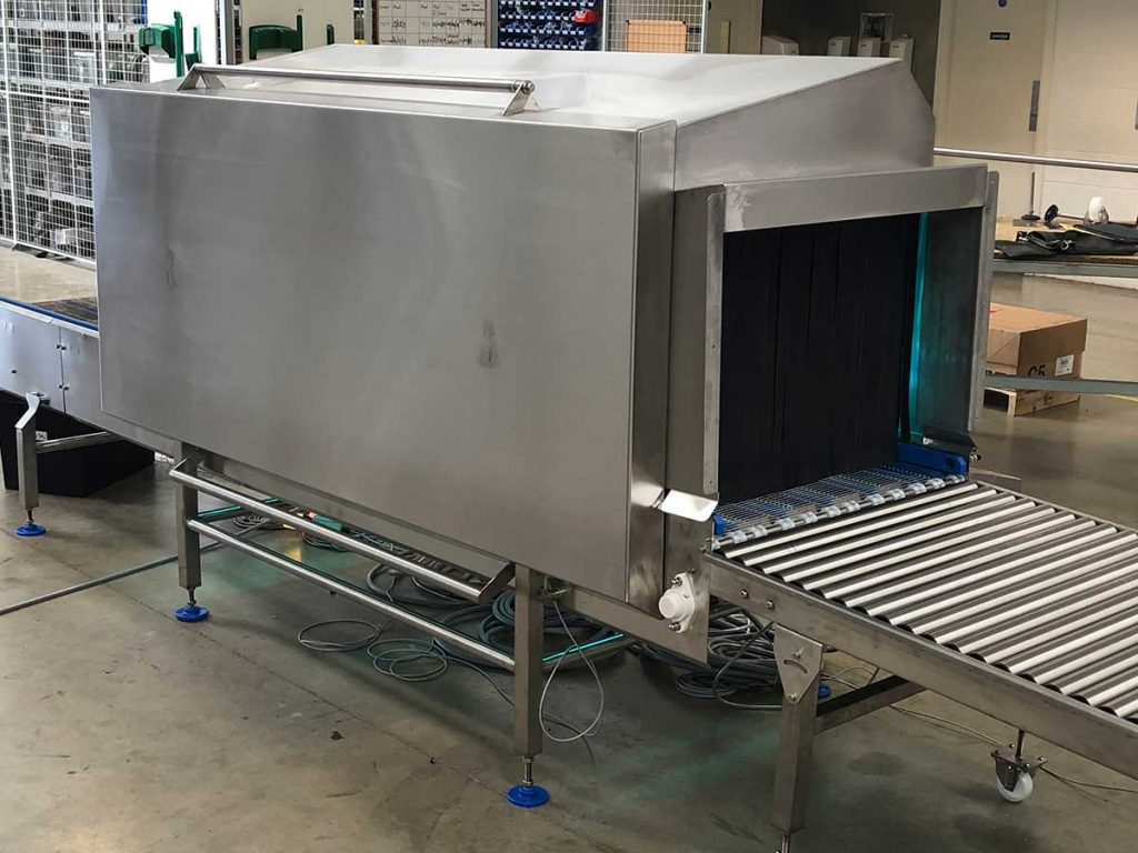 Low Risk to High Risk UV-C solution for crates and boxes