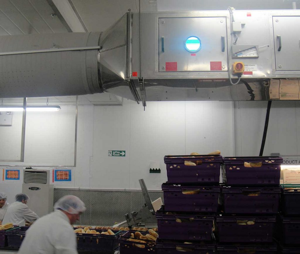 UV-C air disinfection a bakery