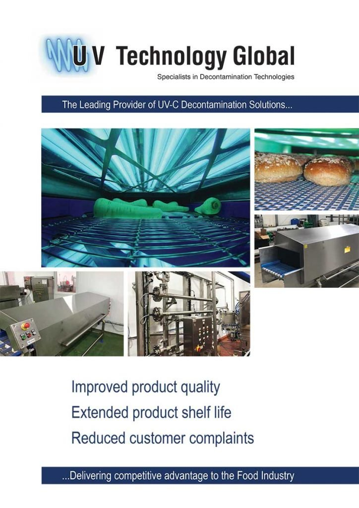 UV Technology Food Industry Brochure Cover