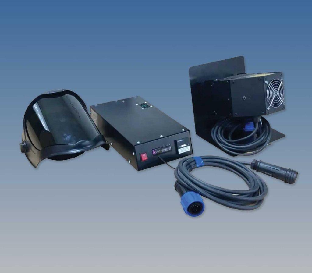 High powered UV-C germicidal hand lamp kit